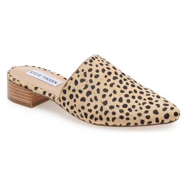 スティーブ マデン レディース サンダル シューズ Steve Madden Cairo Genuine Calf Hair Mule (Women) Cheetah Print Calf-Hair