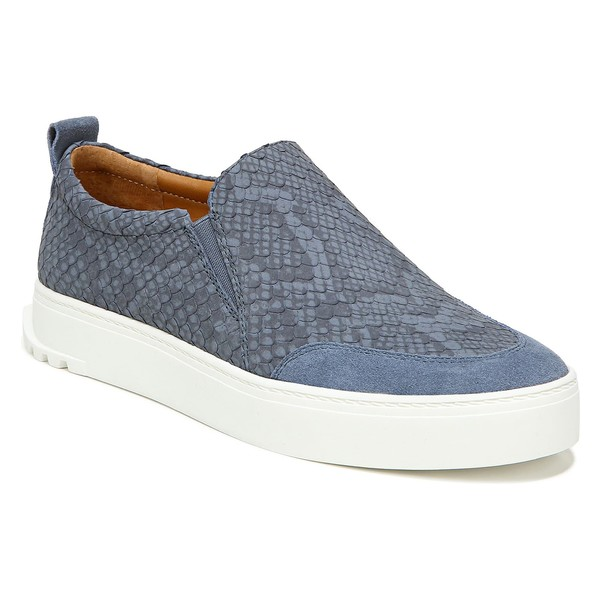 サルトバイフランコサルト レディース スニーカー シューズ SARTO by Franco Sarto Dannon Platform Slip-On Sneaker (Women) Denim Snake Print Leather