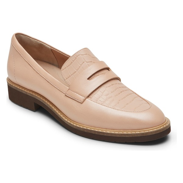 ロックポート レディース サンダル シューズ Rockport Abelle Penny Loafer (Women) Pink Embossed Leather