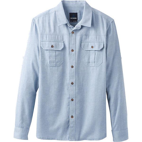 プラーナ メンズ シャツ トップス Prana Men's Cardston LS Shirt Island Blue
