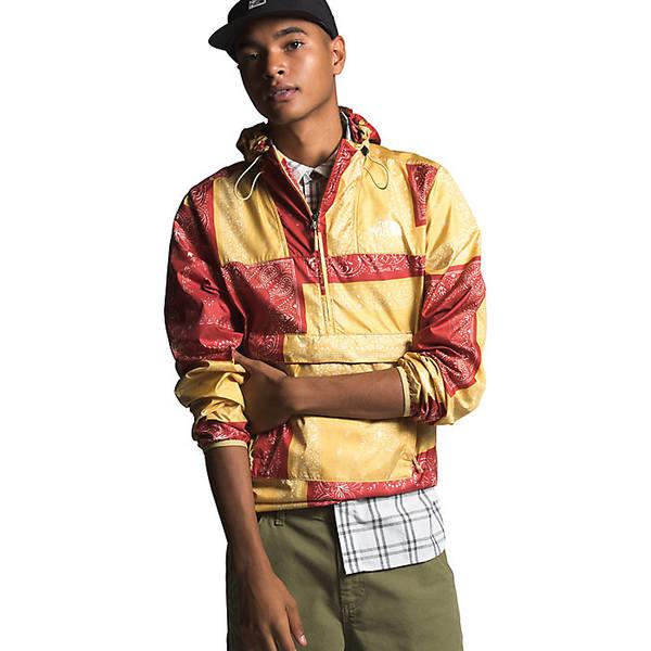 ノースフェイス メンズ ジャケット&ブルゾン アウター The North Face Men's Novelty Fanorak Jacket Sunbaked Red Bandana Renewal Multi Print