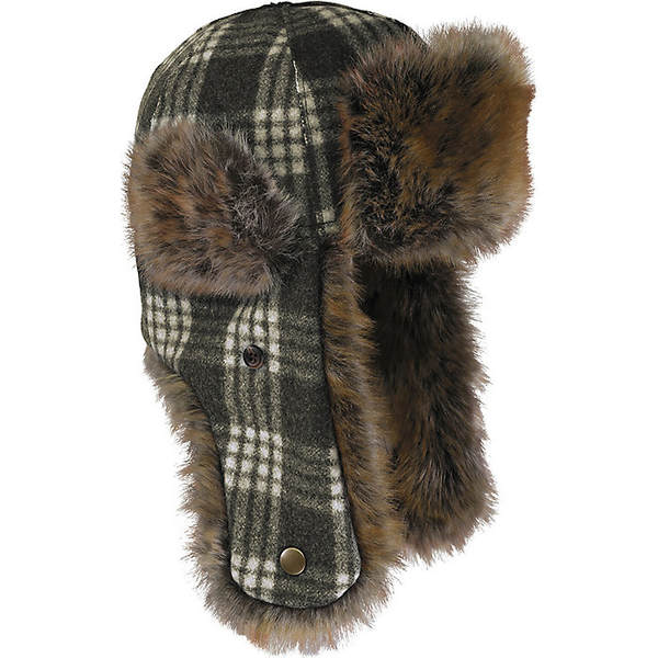 ストーミー クローマー メンズ 帽子 アクセサリー Stormy Kromer The Northwoods Trapper Hat Charcoal / White Tartan
