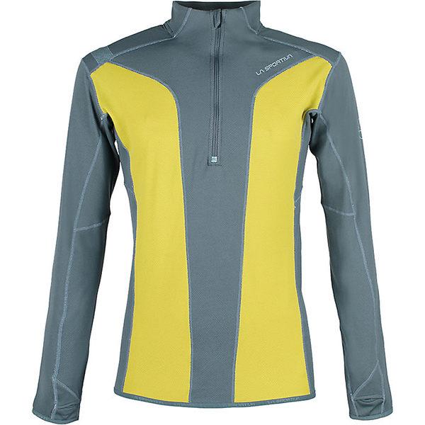 ラスポルティバ メンズ フィットネス スポーツ La Sportiva Men's Vertex LS Top Citronelle / Slate
