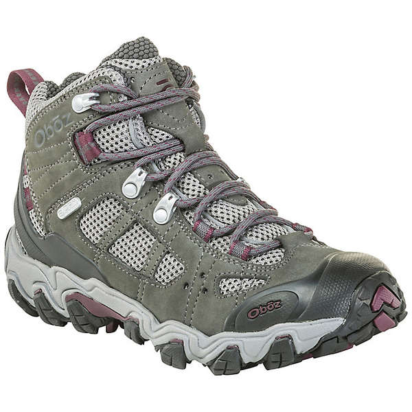 オボズ レディース ハイキング スポーツ Oboz Women's Bridger Vent Mid Shoe Frost Gray / Beet
