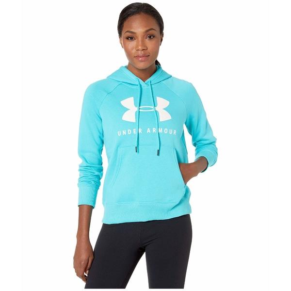 アンダーアーマー レディース パーカー・スウェットシャツ アウター Rival Fleece Sportstyle Graphic Hoodie Breathtaking Blue/Onyx White