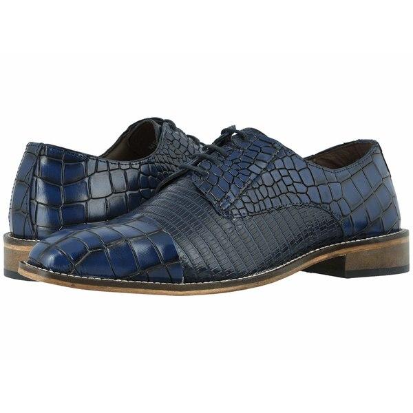ステイシーアダムス メンズ ドレスシューズ シューズ Talarico Leather Sole Cap Toe Oxford Dark Blue
