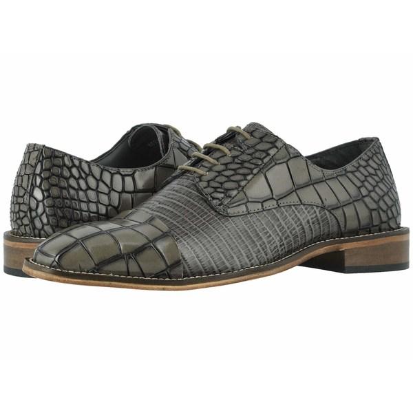 ステイシーアダムス メンズ ドレスシューズ シューズ Talarico Leather Sole Cap Toe Oxford Gray