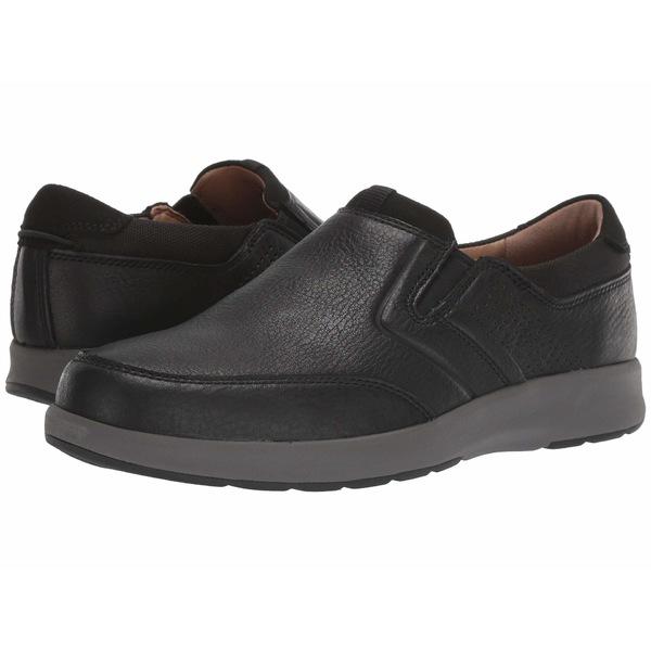 クラークス メンズ スニーカー シューズ Un Trail Step Black Leather