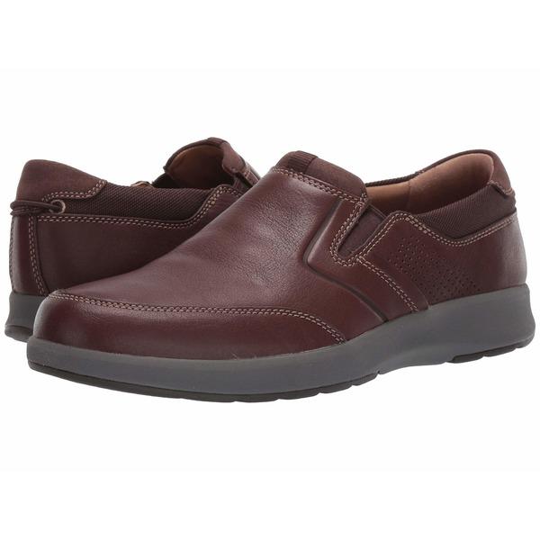 クラークス メンズ スニーカー シューズ Un Trail Step Mahogany Leather
