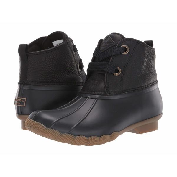 スペリー レディース ブーツ&レインブーツ シューズ Saltwater 2-Eye Leather Black