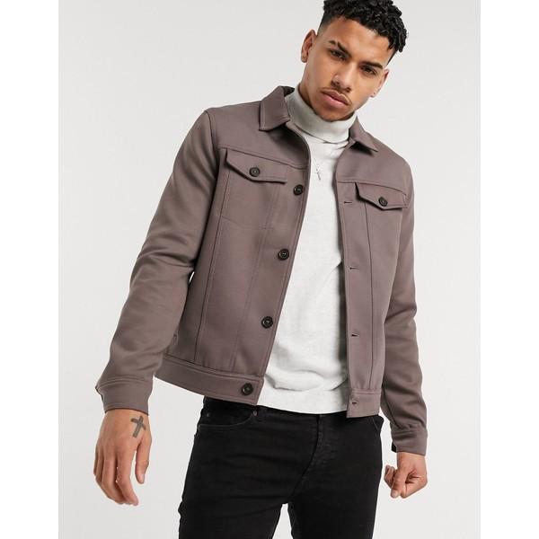 リバーアイランド メンズ ジャケット&ブルゾン アウター River Island western jacket in brown Brown