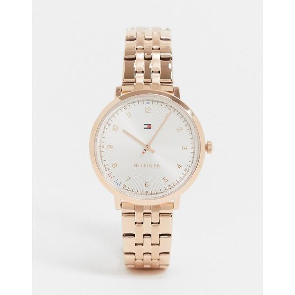 トミー ヒルフィガー レディース 腕時計 アクセサリー Tommy Hilfiger 1781760 gold bracelet strap watch Gold