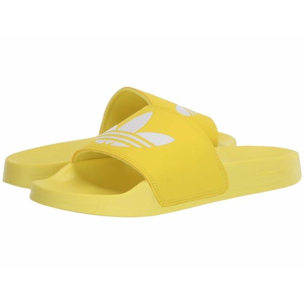 アディダス レディース サンダル シューズ Adilette Lite Shock Yellow/Footwear White/Shock Yellow