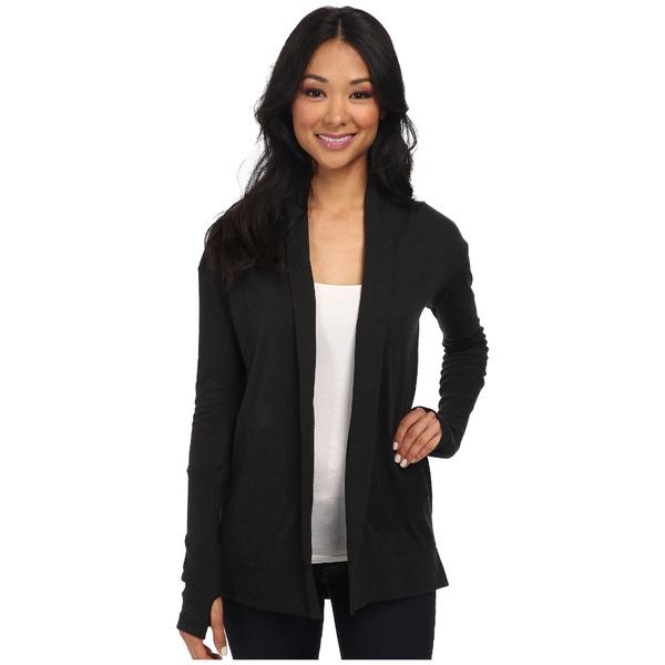 オルタナティヴ レディース ニット&セーター アウター Jersey Rib Sleeve Wrap Eco True Black