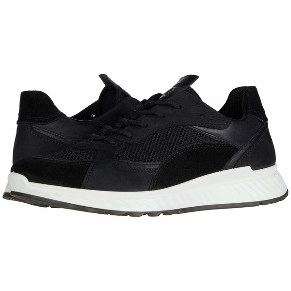 エコー レディース スニーカー シューズ ST.1 Trend Sneaker Black/Black/Black/Black Calf Suede/Yak Leather/Yak Nubuck/Textil
