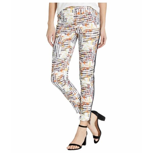 リセットエルモントリオール レディース カジュアルパンツ ボトムス Aruba Print Pull-On Ankle Pants with Side Stripe Navy