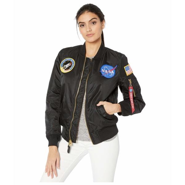 アルファインダストリーズ レディース コート アウター MA-1 Nasa Flight Jacket Black