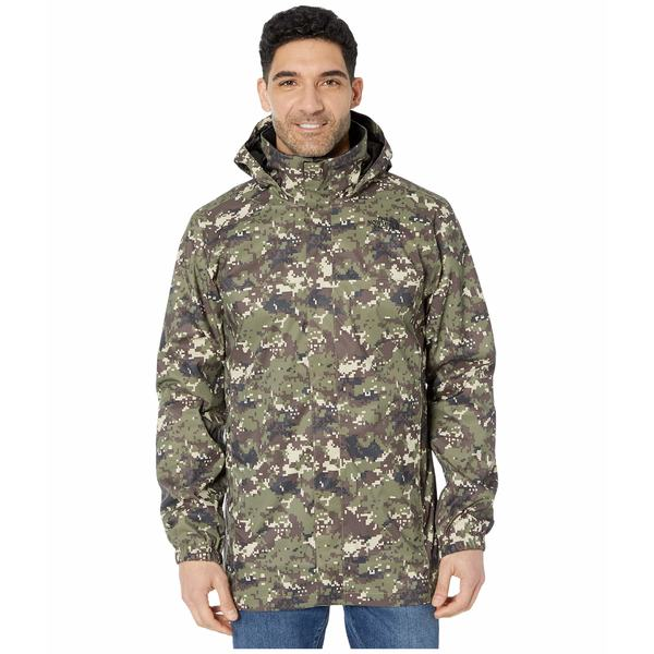 ノースフェイス メンズ コート アウター Resolve Parka Burnt Olive Green Ux Digi Camo Print