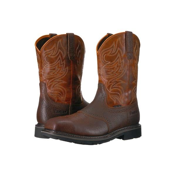 アリアト メンズ ブーツ&レインブーツ シューズ Sierra Shadowland Steel Toe Mesa Brown/Sassy Orange