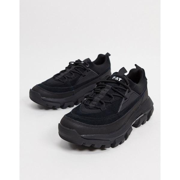 キャットフットウェア 直営限定アウトレット メンズ シューズ スニーカー Black 全商品無料サイズ交換 新色追加して再販 CAT raider black in triple lace sneakers