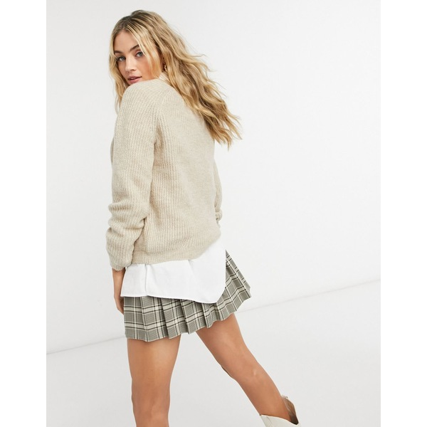 gray Whitecap Only アウター オンリー ニット&セーター sweater beige レディース mock-neck with in
