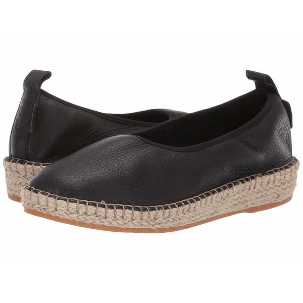 コールハーン レディース スリッポン・ローファー シューズ Cloudfeel Espadrille Loafers Black Leather/Natural Jute