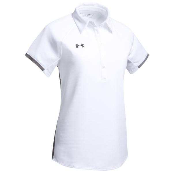 アンダーアーマー レディース ポロシャツ トップス Team Rival Polo White/Graphite