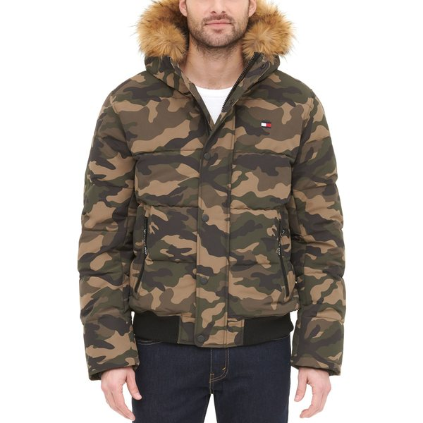 <title>Tommy Hilfiger メンズ アウター ジャケット ブルゾン Camouflage 全商品無料サイズ交換 トミー 今季も再入荷 ヒルフィガー Men's Quilted Snorkel Bomber Jacket</title>