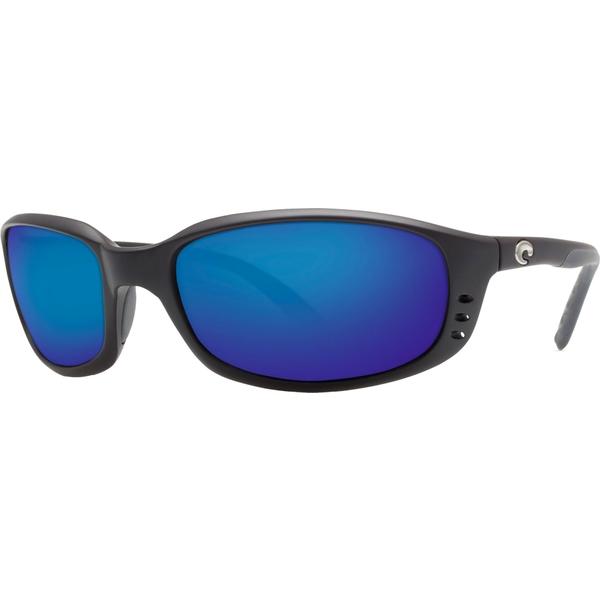 コスタデルマール メンズ サングラス・アイウェア アクセサリー Costa Del Mar Brine 580G Polarized Sunglasses Black/BlueMirror