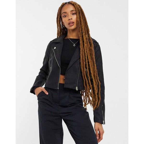 ミスセルフフリッジ レディース アウター ジャケット ブルゾン Black 全商品無料サイズ交換 Miss moto cropped faux-leather Selfridge jacket black in 新入荷 流行 商舗
