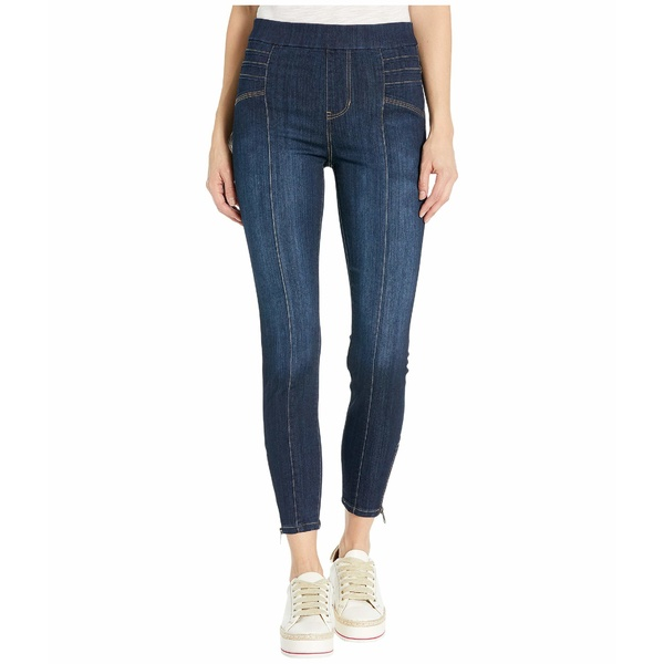 リバプール レディース デニムパンツ ボトムス Sienna Seamed Moto Pull-On in Silky Soft Denim Jeans in Saxton Saxton