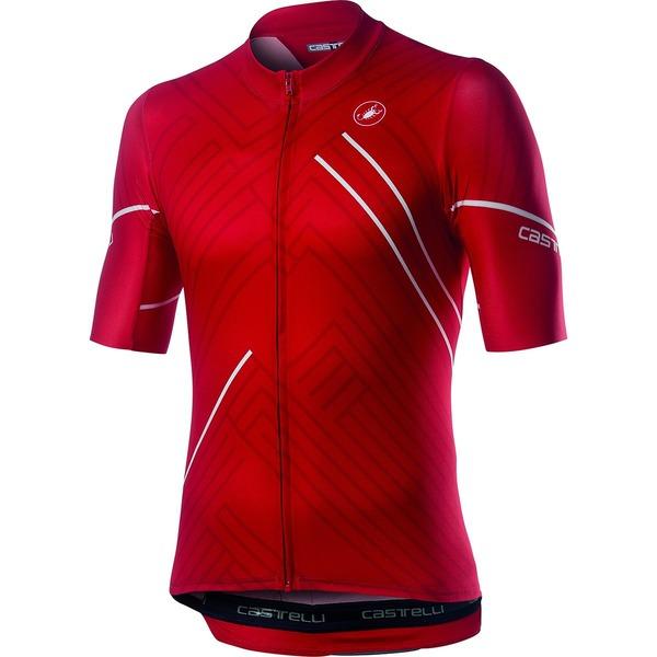 カステリ メンズ サイクリング スポーツ Passo Jersey - Men's Red