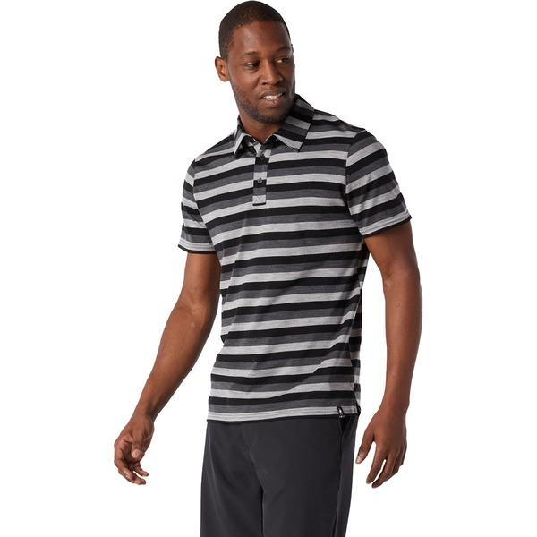 スマートウール メンズ ポロシャツ トップス Merino 150 Polo Shirt - Men's Iron Stripe