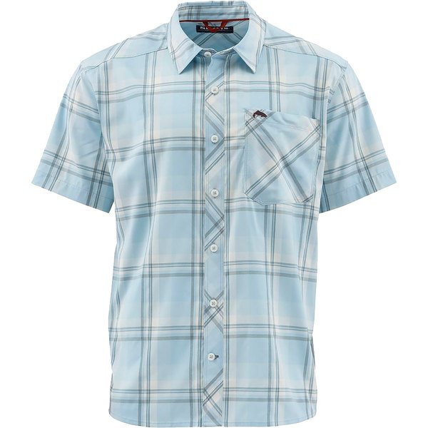 シムズ メンズ シャツ トップス Outpost Short-Sleeve Shirt - Men's Mist Plaid