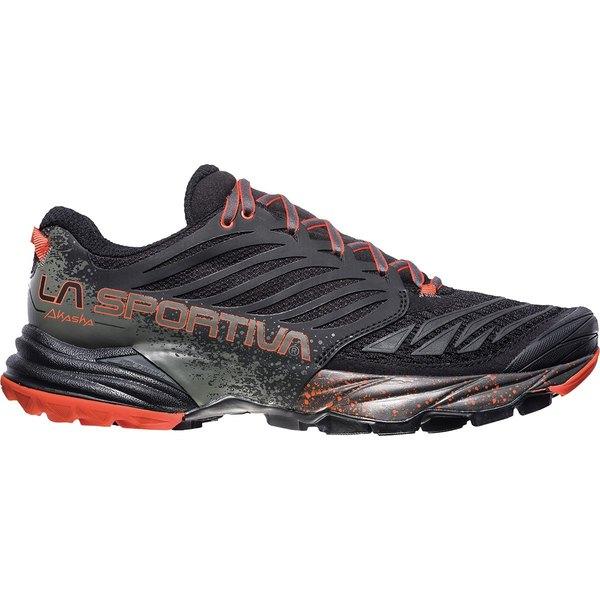 ラスポルティバ メンズ スニーカー シューズ Akasha Running Shoe - Men's Black/Tangerine