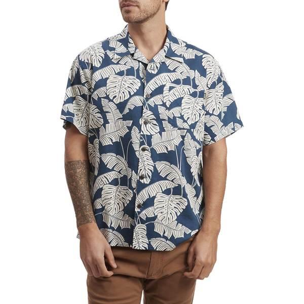 ハウラーブラザーズ メンズ シャツ トップス Monoloha Shirt - Men's Monstera Hawaiian Blue