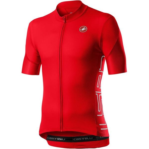 カステリ メンズ サイクリング スポーツ Entrata V Jersey - Men's Fiery Red