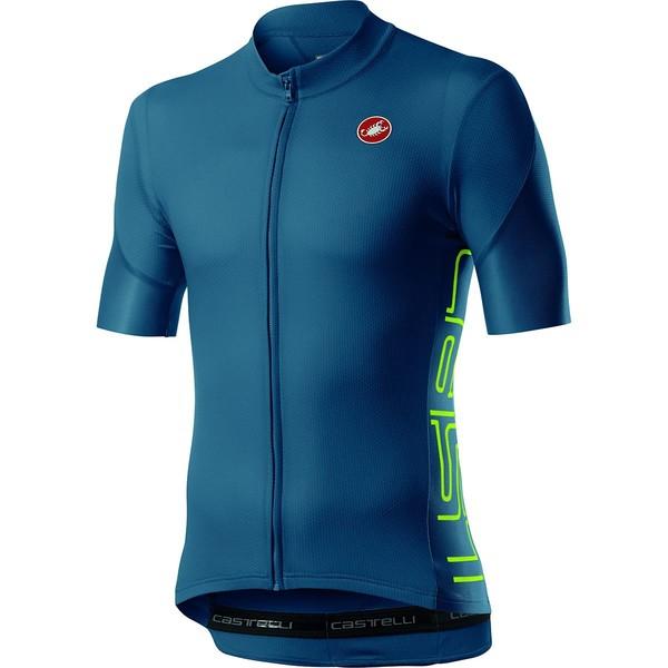 カステリ メンズ サイクリング スポーツ Entrata V Jersey - Men's Light Steel Blue