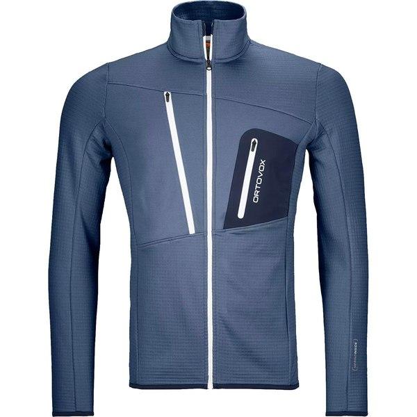 オルトボックス メンズ ジャケット&ブルゾン アウター Merino Fleece Grid Jacket - Men's Night Blue