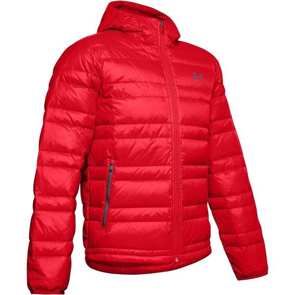 アンダーアーマー メンズ ジャケット&ブルゾン アウター Armour Down Hooded Jacket - Men's Red/Pitch Gray