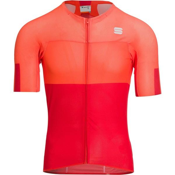スポーツフル メンズ サイクリング スポーツ Bodyfit Pro Light Jersey - Men's Fire Red/Orange SDR