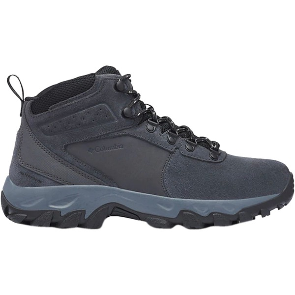 コロンビア メンズ ハイキング スポーツ Newton Ridge Plus II Suede WP Hiking Boot - Men's Shark/Black