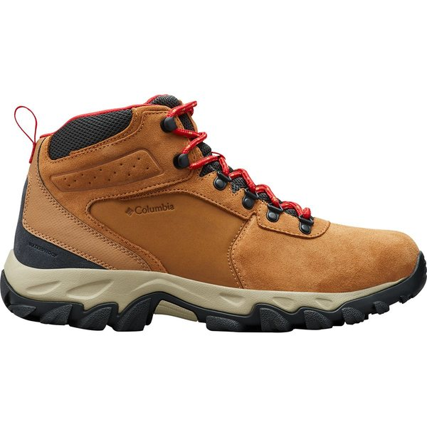 コロンビア メンズ ハイキング スポーツ Newton Ridge Plus II Suede WP Hiking Boot - Men's Elk/Mountain Red