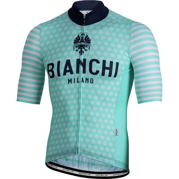 ビアンキ ミラノ メンズ サイクリング スポーツ Davoli Short-Sleeve Jersey - Men's Blue