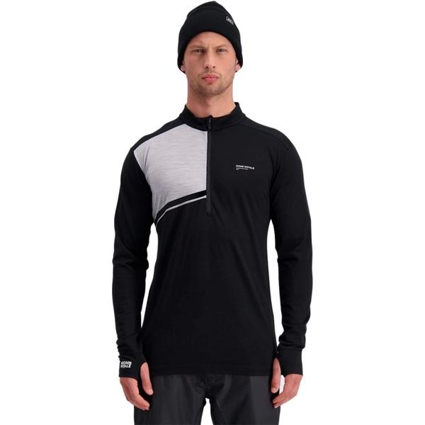 モンスロイヤル メンズ Tシャツ トップス Alta Tech 1/2-Zip Top - Men's Black/Grey Marl