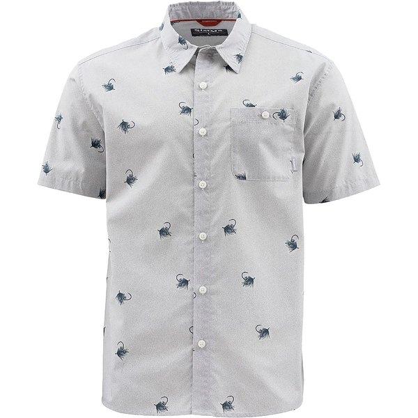 シムズ メンズ シャツ トップス Tailout Short-Sleeve Shirt - Men's Cowboy Fly Sterling