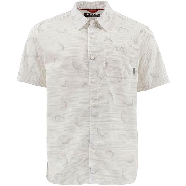 シムズ メンズ シャツ トップス Tailout Short-Sleeve Shirt - Men's Tarpon Time White