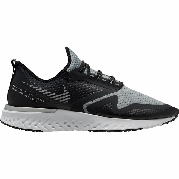 ナイキ メンズ スニーカー シューズ Odyssey React Shield 2 Running Shoe - Men's Black/Metallic Silver-Cool Grey