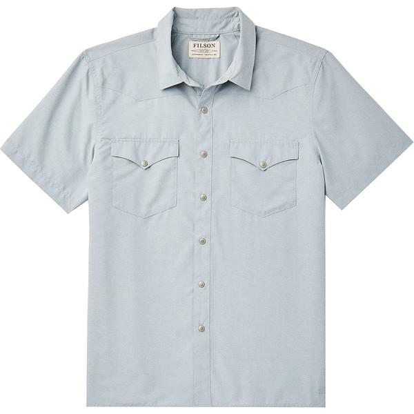 フィルソン メンズ シャツ トップス Snap Front Short-Sleeve Shirt - Men's Blue Stone