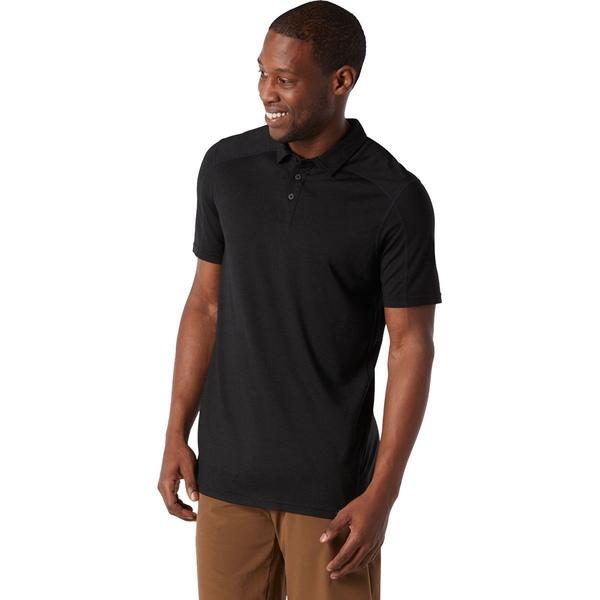 スマートウール メンズ ポロシャツ トップス Merino Sport 150 Polo Shirt - Men's Black